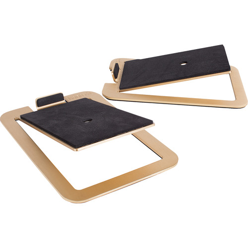 Kanto Living S4 Desktop Speaker Stands (Brass)
