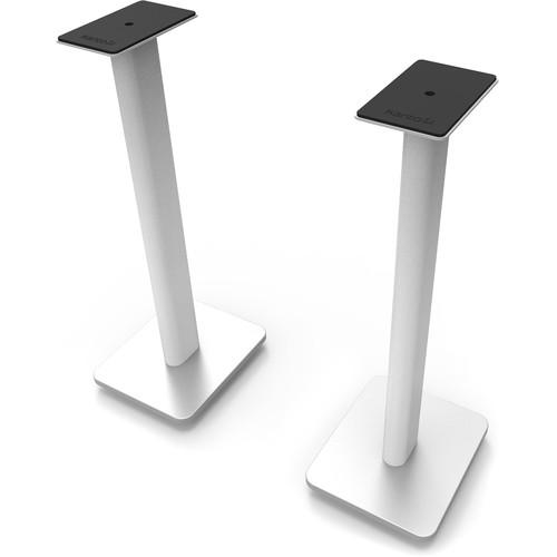 """Kanto Living SP Plus 26"""" Bookshelf Speaker Stands (White, Pair)"""