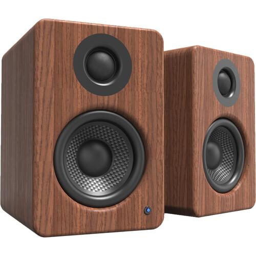 Kanto Living YU2 Powered Desktop Speakers (Walnut, Pair)