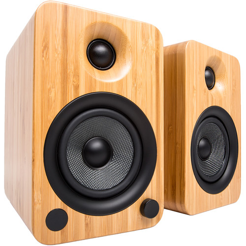 Kanto Living YU4 2-Way Powered Bookshelf Speakers (Pair, Bamboo)