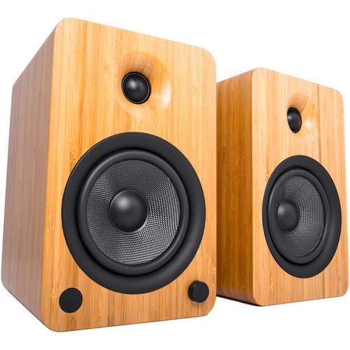Kanto Living YU6 2-Way Powered Bookshelf Speakers (Pair, Bamboo)