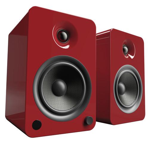 Kanto Living YU6 2-Way Powered Bookshelf Speakers (Pair, Crimson)