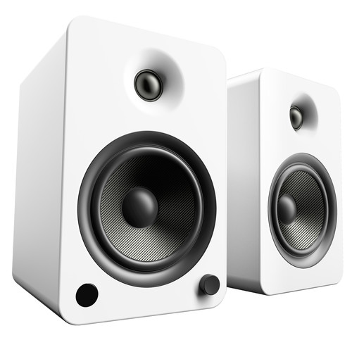 Kanto Living YU6 2-Way Powered Bookshelf Speakers (Pair, Matte White)