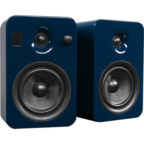 Kanto Living YUMI Powered Bookshelf Speakers (Pair, Gloss Blue)