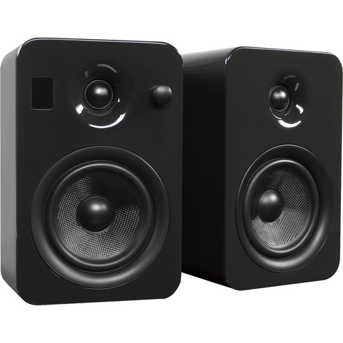 Kanto Living YUMI Powered Bookshelf Speakers (Pair, Gloss Gray)