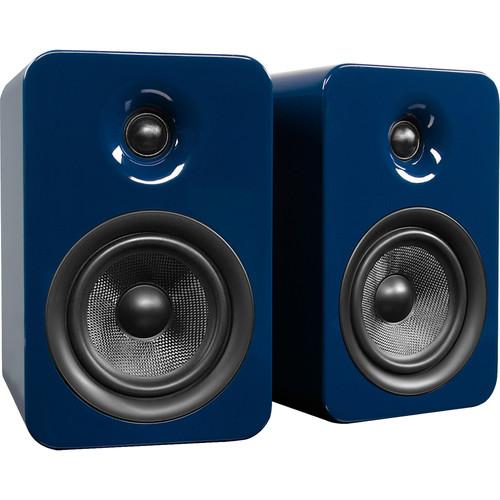 Kanto Living YUMI Premium Bookshelf Passive Dual Speakers (Gloss Blue)