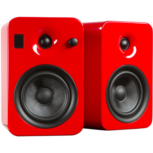 Kanto Living YUMI Powered Bookshelf Speakers (Pair, Gloss Red)