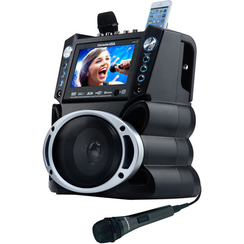 "Karaoke USA GF840 Bluetooth Karaoke System with 7"" Color Screen and Record Function"