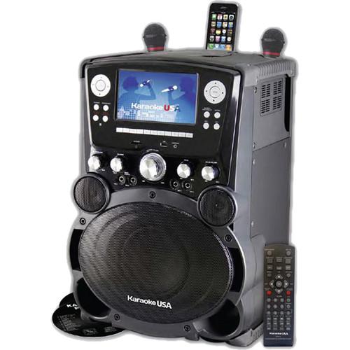 "Karaoke USA GP975 Bluetooth Karaoke Player with 7"" Color TFT Display and Record Function"