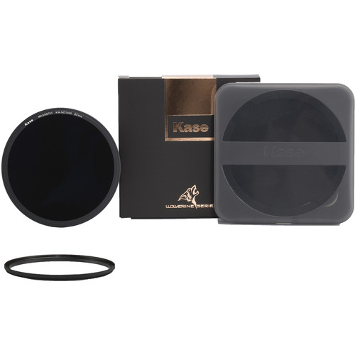Kase Wolverine Magnetic ND1000 Solid Neutral Density 3.0 Filter with 67mm Lens Adapter Ring (10-Stop)