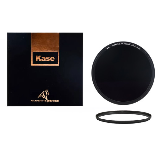 Kase Wolverine Magnetic ND64,000 Solid Neutral Density 4.8 Filter with 77mm Lens Adapter Ring (16-Stop)