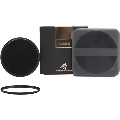 Kase Wolverine Magnetic ND64 Solid Neutral Density 1.8 Filter with 95mm Lens Adapter Ring (6-Stop)