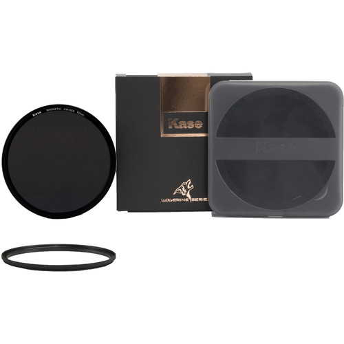 Kase Wolverine Magnetic ND8 Solid Neutral Density 0.9 Filter with 82mm Lens Adapter Ring (3-Stop)