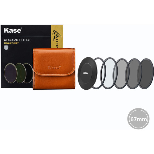 Kase 67mm Pro Kit - CPL/ ND8/ ND64/ ND1000/ Adapter Ring/ Bag/ Cap