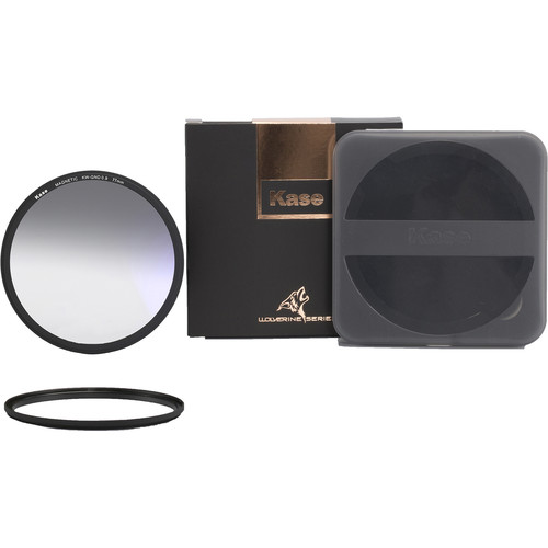 Kase Wolverine Magnetic Soft-Edge Graduated Neutral Density 0.9 Filter with 77mm Lens Adapter Ring (3-Stop)