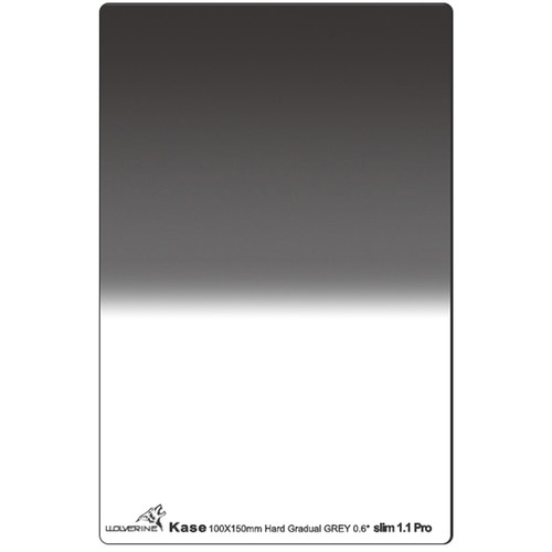 Kase 100 x 150mm Wolverine Hard-Edge Slim 1.1mm Thick Graduated ND 0.6 Filter (2-Stop)