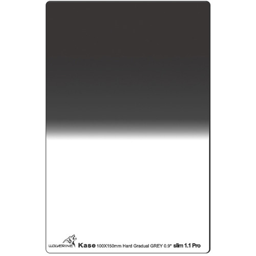 Kase 100 x 150mm Wolverine Hard-Edge Slim 1.1mm Thick Graduated ND 0.9 Filter (3-Stop)