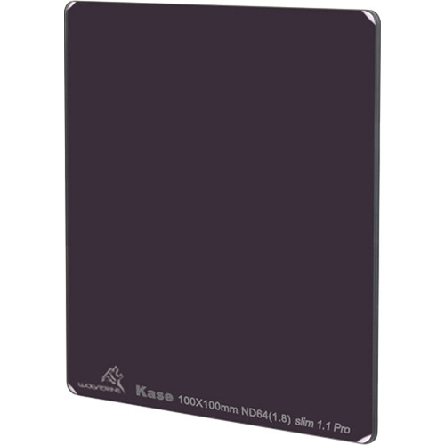 Kase 100 x 100mm Wolverine Slim 1.1mm Thick Solid Neutral Density 1.8 Filter (6-Stop)