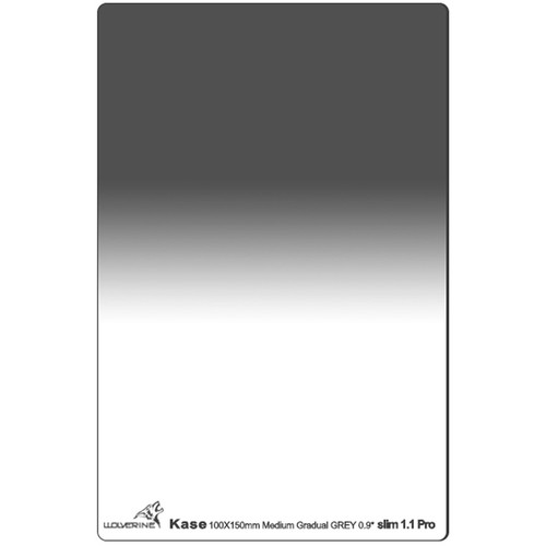Kase 100 x 150mm Wolverine Medium-Edge Slim 1.1mm Thick Graduated ND 0.9 Filter (3-Stop)