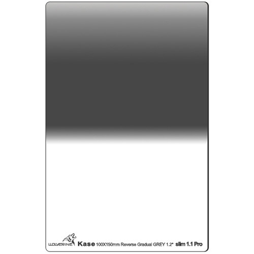Kase 100 x 150mm Wolverine Slim 1.1mm-Thick Reverse-Graduated ND 1.2 Filter (4-Stop)