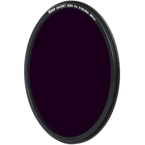 Kase 86mm Magnetic ND 64 Solid Neutral Density 1.8 Filter for Kase K8 100mm Filter Holder (6-Stop)