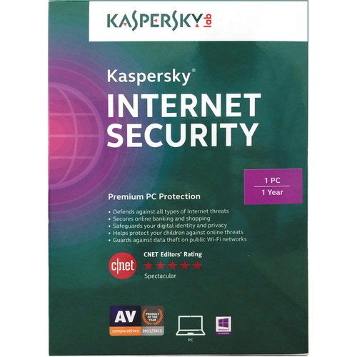 Kaspersky Internet Security 2015 (1-PC, 1-Year Protection)
