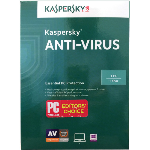 Kaspersky Anti-Virus 2016 (Download, 1 PC, 1-Year Protection)