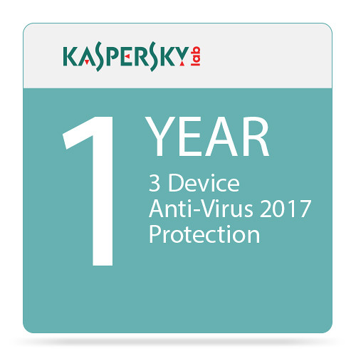 Kaspersky Anti-Virus 2017 (3 Devices, 1-Year Protection)