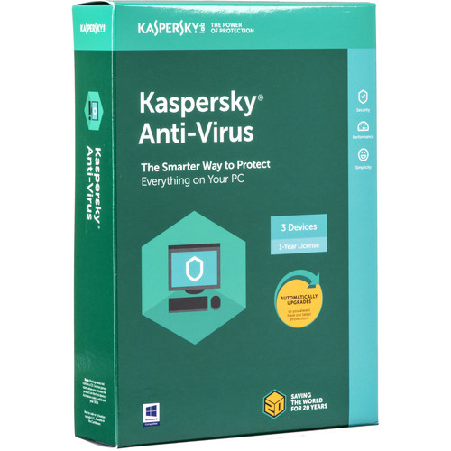 Kaspersky Anti-Virus 2018 (3 Devices, 1-Year License, Boxed)