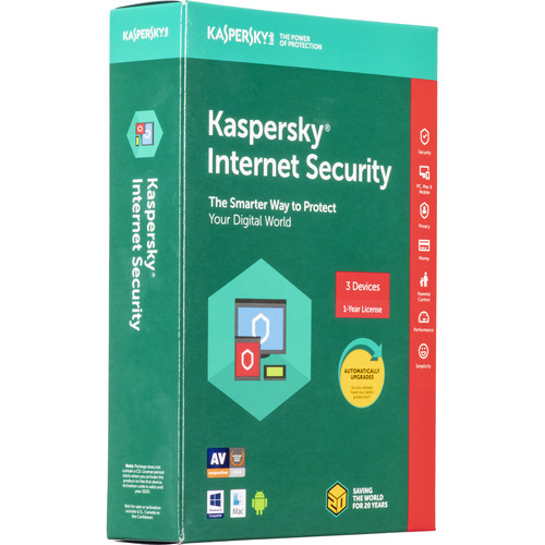Kaspersky Internet Security 2018 (3 Devices, 1-Year License, Boxed)