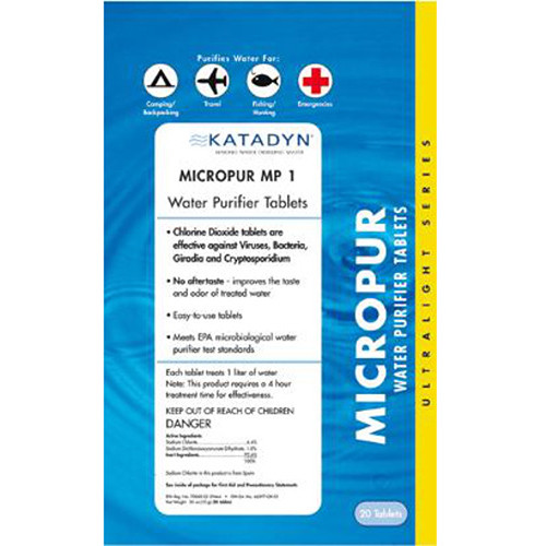 Katadyn Micropur Purification Tablets (20-Pack)