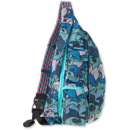 KAVU Rope Bag (Ocean Waves)