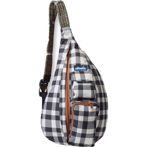 KAVU Rope Sling Bag (BW Plaid)