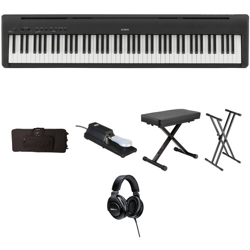 Kawai ES 110 Portable Digital Piano Kit with Case, Pedal, Stand, Bench, and Headphones