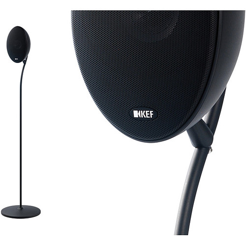 KEF Floorstand for E301 Satellite Speaker (Pair, Black)