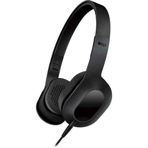 KEF M400 Hi-Fi On-Ear Headphones (Black)