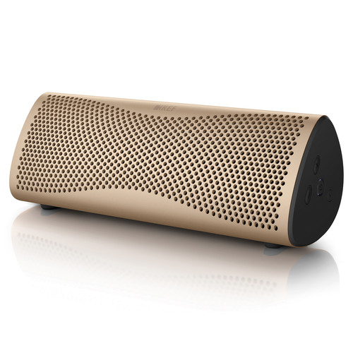 KEF MUO Portable Bluetooth Wireless Speaker (Horizon Gold)