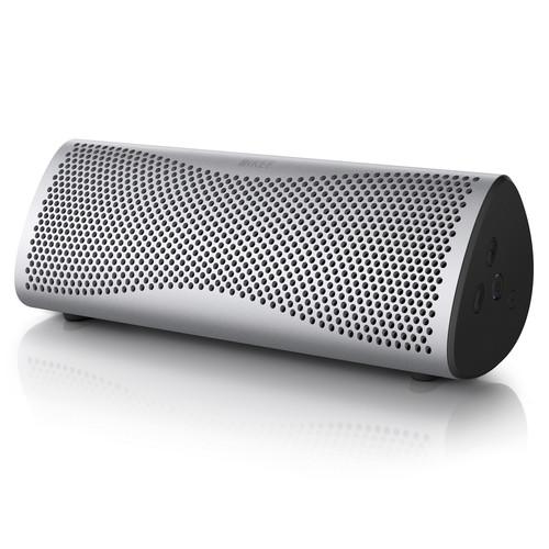 KEF MUO Portable Bluetooth Wireless Speaker (Light Silver)