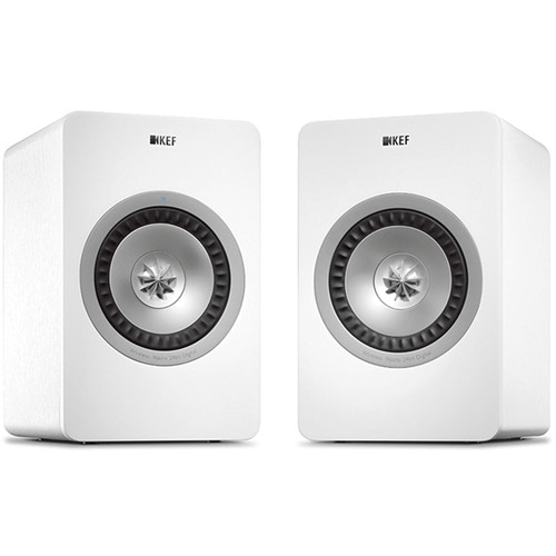 KEF X300A Wireless Powered 2-Way Digital Hi-Fi Speakers with USB Input (Pair, White)