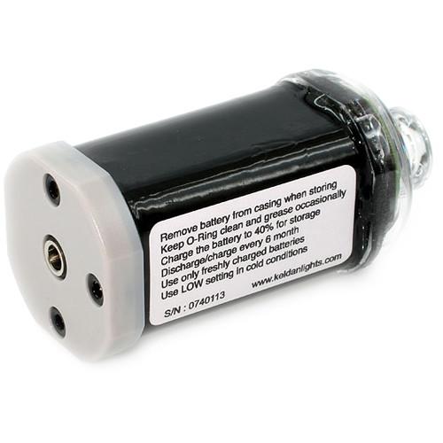 Keldan Lithium-Ion Battery Pack for Video 4X, Video 4X BLUE, and Video 4X UV Dive Lights (14.4v / 3.1Ah)