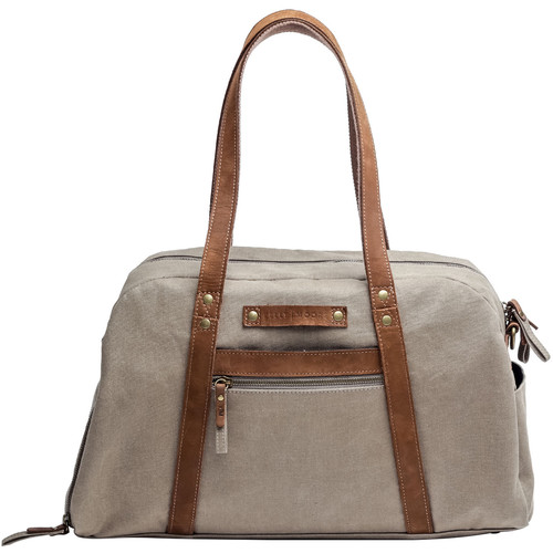 Kelly Moore Bag Explorer Duffel Bag (Canvas and Leather, Tan)