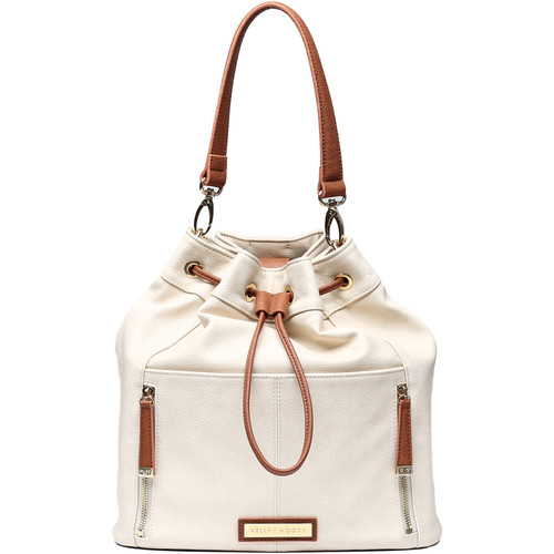 Kelly Moore Bag Austin Bag (Bone with Brown Trim)