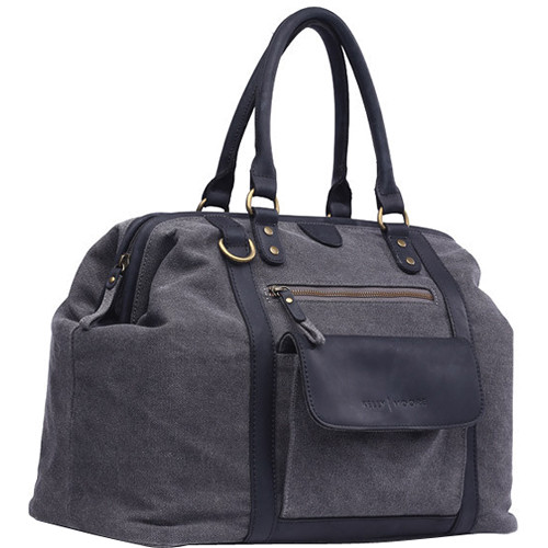 Kelly Moore Bag Jude Bag (Gray Canvas/Black Trim)