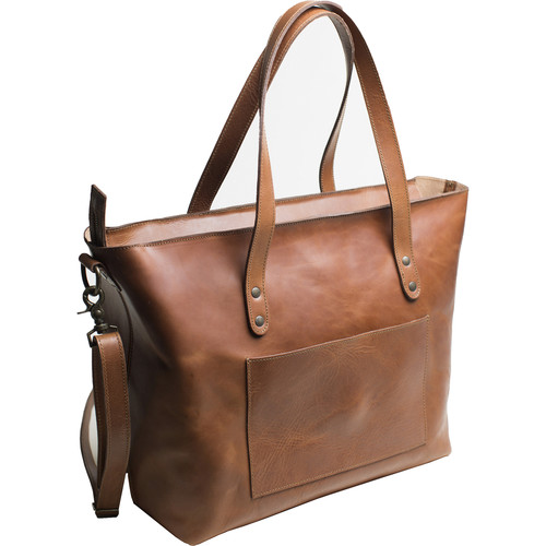 Kelly Moore Bag Weekender Full-Grain Leather Oversized Tote (Cognac)