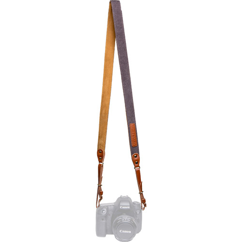 Kelly Moore Bag Canvas and Leather Messenger Camera Strap (Silver)
