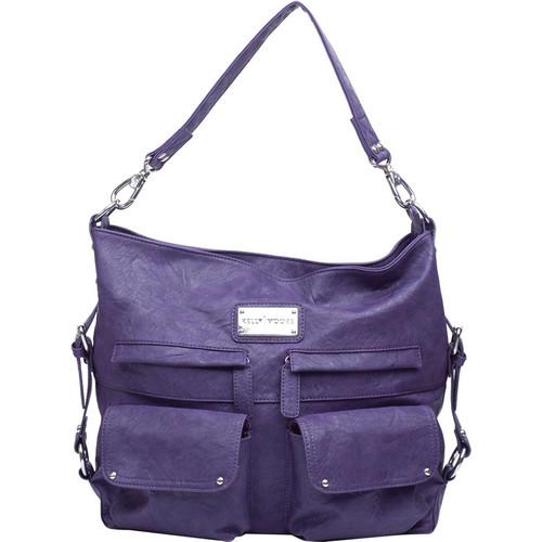Kelly Moore Bag 2 Sues Shoulder Bag with Removable Basket (Eggplant - 2015 Version)