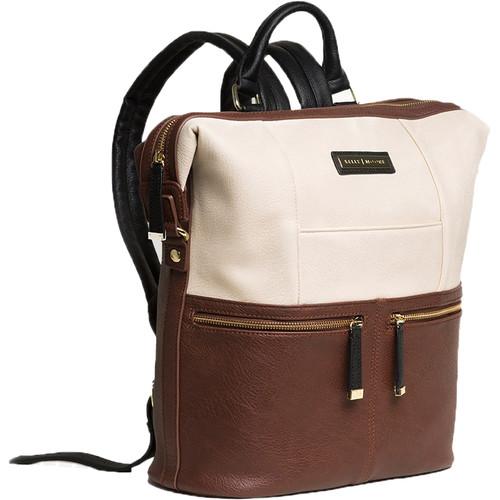 Kelly Moore Bag Woodstock 2.0 Vegan Backpack (Cinnamon/White)