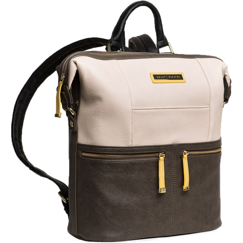 Kelly Moore Bag Woodstock 2.0 Vegan Backpack (Gray/White)