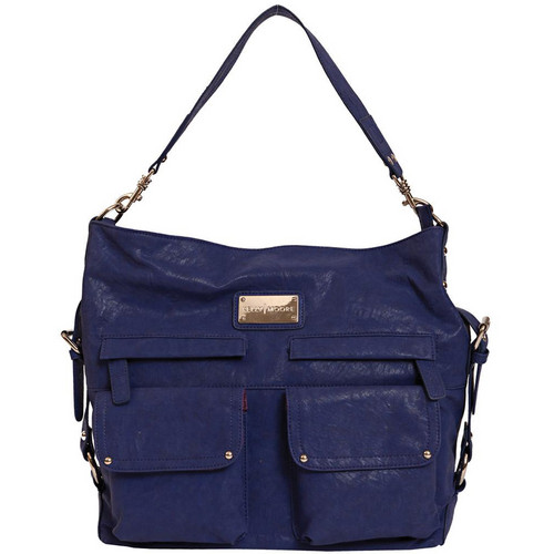 Kelly Moore Bag 2 Sues Shoulder Bag with Removable Basket (Indigo)