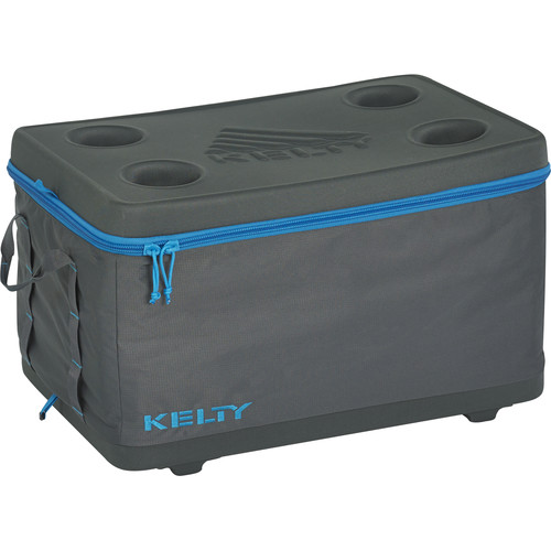 Kelty Medium Folding Cooler (Smoke / Paradise Blue)